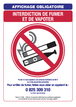 Interdiction de vapoter cigarette electronique Panneau